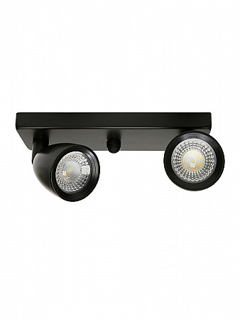 SPOT LED DIRECT MR16 8W PRETO | BASE LINEAR