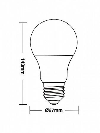 LÂMPADA LED TKL 100 / 15W E27