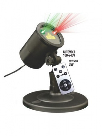 PROJETOR LED  - DOT LASER -  3W