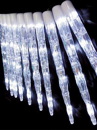 CORDÃO LUMINOSO LED CRISTAL GELO - 20 CRISTAIS - 8 FUNÇÕES
