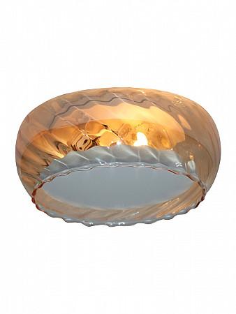 PLAFON MOON GLASS 2XG9 RIGATO CONHAQUE | PLM-574
