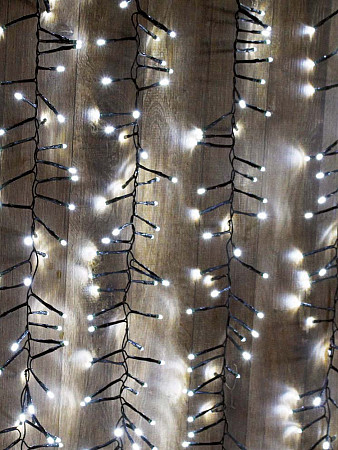CORTINA LUMINOSA 480 LEDS FESTÃO | 8 FUNÇÕES - BRANCA