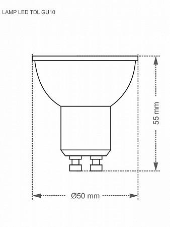 LÂMPADA LED DICROICA MR16 TDL 50 / 7W GU10