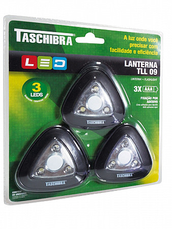 LANTERNA LED TLL 09 - BLISTER 3 PEÇAS