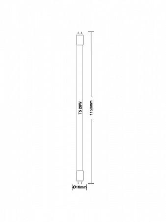 LÂMPADA LED TUBULAR T5 / 18W G5
