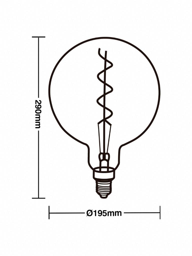LÂMPADA LED FILAMENTO GIANT GLOBO 4W AMBAR E27