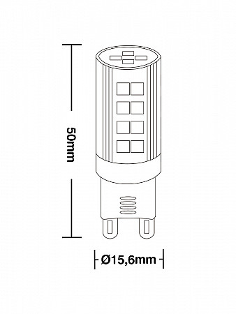 LÂMPADA LED G9 25 / 3W 2700K
