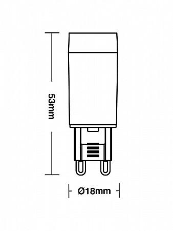 LÂMPADA LED G9 25 / 3W AUTOVOLT