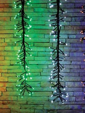 CORTINA LUMINOSA LED | 480 LEDS FESTAO | 8 FUNÇÕES - BRANCA