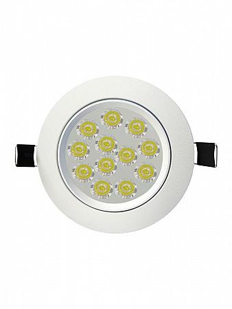 SPOT LED EMBUTIR SP 24 REDONDO 12W 6500K