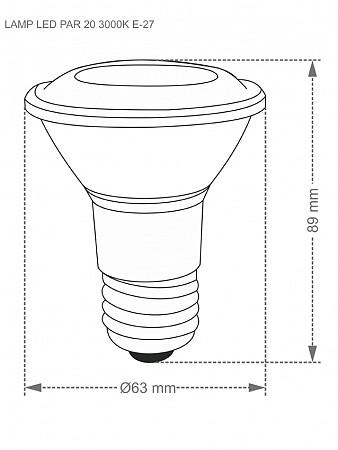 LÂMPADA LED TKL 100 / 17W E27