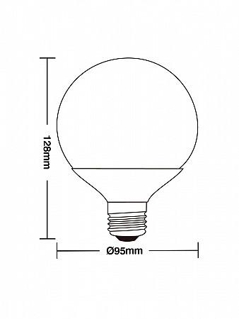 LÂMPADA LED GLOBO 100 / 9,5W E27