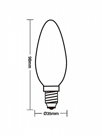 LÂMPADA INCANDESCENTE FLICKER VELA 2W E14