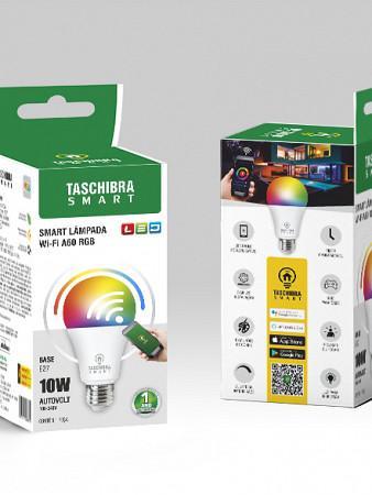 LÂMPADA LED  TASCHIBRA WIFI SMART BULBO 10W RGB